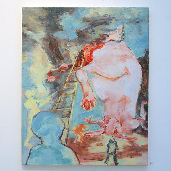 Jenny Lynn McNutt - In the Green Body of The World - 76x61cm Olieverf op canvas
