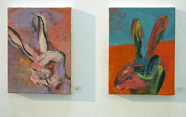 Jenny Lynn McNutt - Untitled & Untitled - 20x15cm Olieverf op canvas