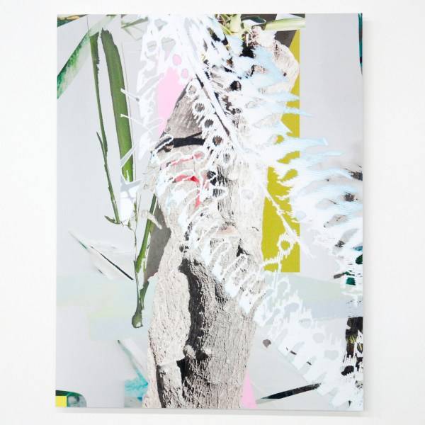Jenny Wilson - (Tropical is Topical) Painterly Anagram II - 45x34cm Digitale collage op fotopapier op dibond, oplage van 3