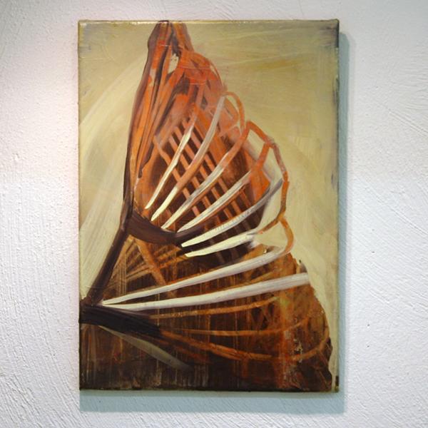 Jenny Wilson - Untitled (Soft Construction) - 50x35cm Olieverf op doek