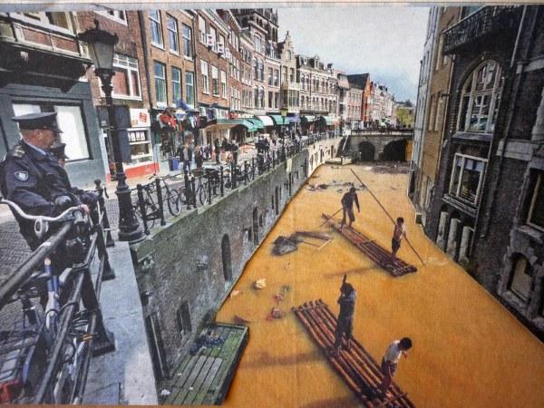 Jet Altenburg - Gracht - 21x13cm Collage, 2014