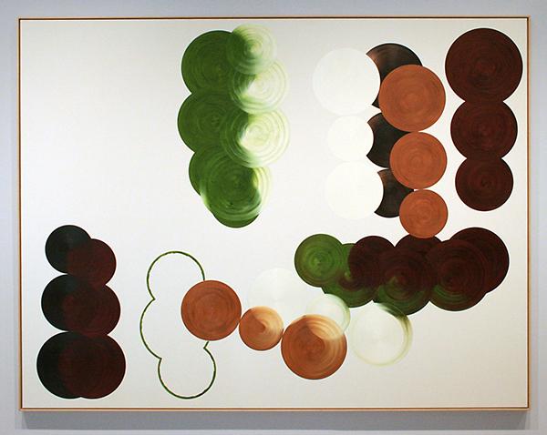 Johan van oord - Compositie 40,14 - Olieverf en potlood op doek 1987