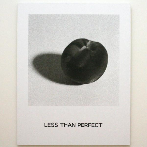 John Baldessari - Less Than Perfect (uit de Goya serie) - Inkjetprint en handgeschreven belettering op doek