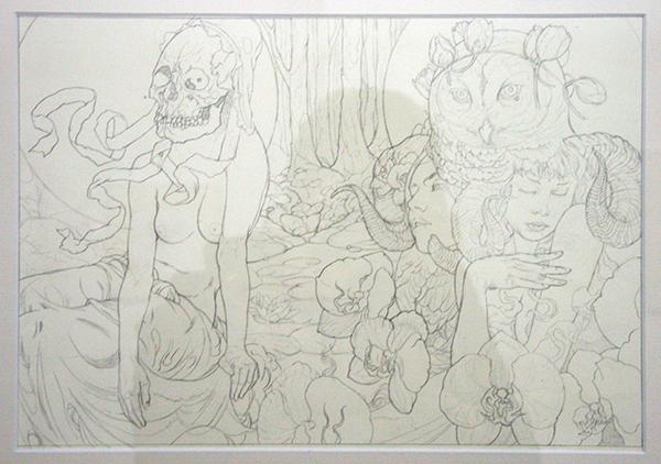 John Dyer Baizley - Kvelertak - 37x26cm Potlood op papier