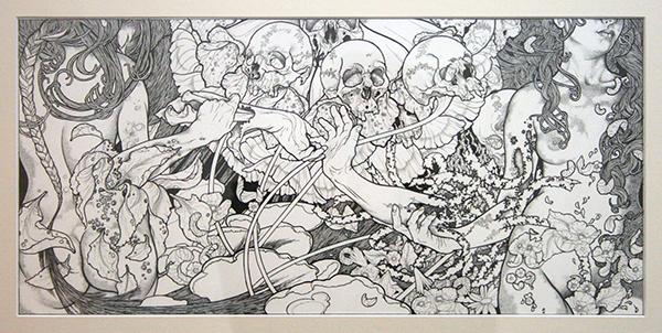 John Dyer Baizley - Phantom Limb - 54x26cm inkt op papier