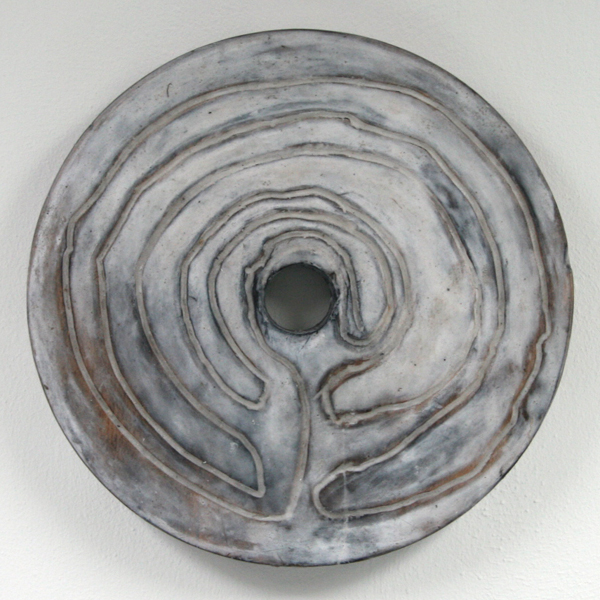 John O'Carrol - Labyrinth - 35cm Encaustiek op hout