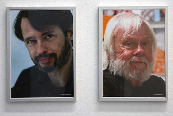 Jonas Lund - The Top 100 Highest Ranked Curators in The World, 2013 - 29x21cm, Laserprint op papier (37 Benedetti & 38 Baldessari)