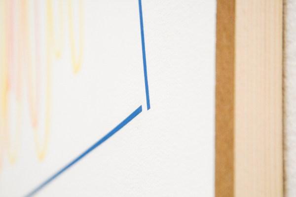 Joost Krijnen - Die Harmonie der Welt - 170x230cm Acrylverf, kleurpotlood, houtskool, potlood, aquarel en tape op MDF (detail)