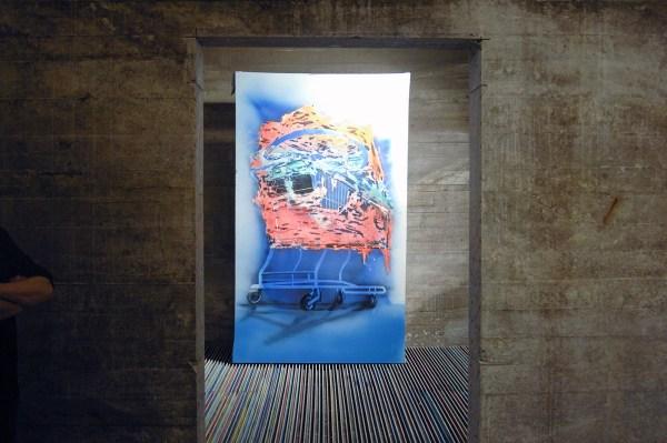 Jop Vissers Vorstenbosch - Nomad - 270x160cm Olieverf, lak en spuitbus op doek