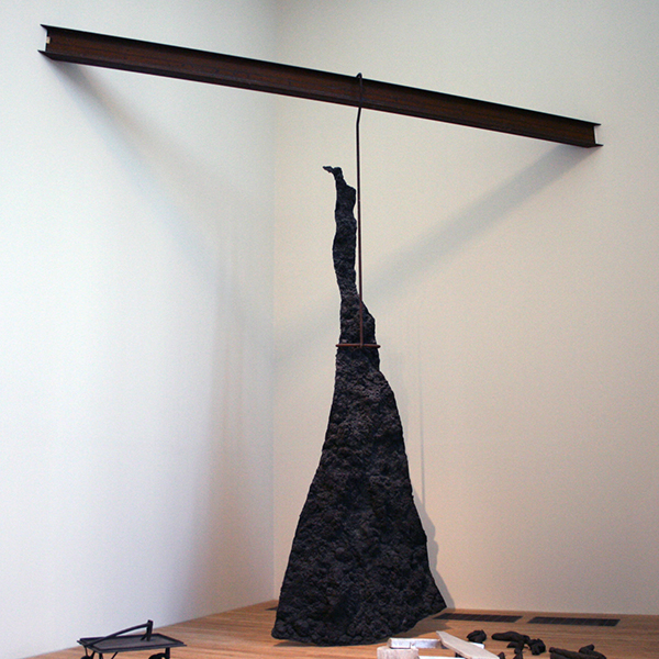 Joseph Beuys - Lightning with Stag in its Glare - Brons en aluminium