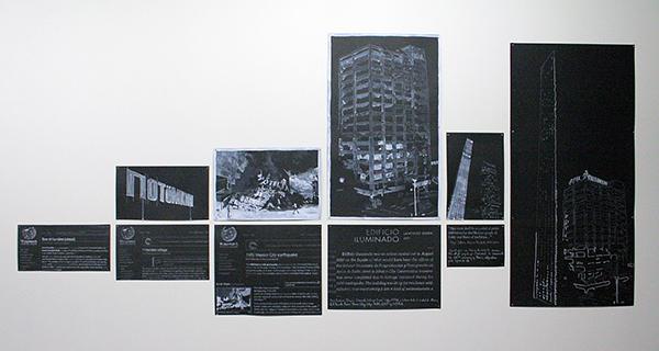 Julio Pastor - So En Lumiere - 104x240cm Mixed Media op papier