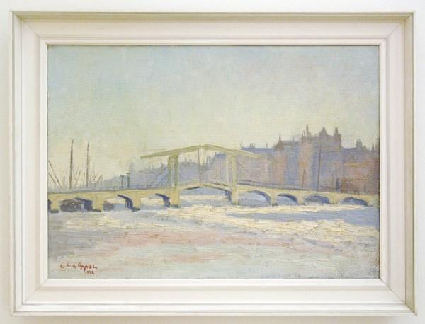 Karel Appel - Ophaalbrug in Amsterdam - 49x68cm Olieverf op doek, 1942, verworven in 1942