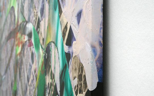 Katharina Grosse - Zonder Titel - Acrylverf op doek 2005 (detail)