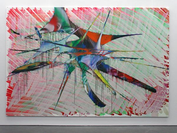 Katharina Grosse - Zonder Titel - Acrylverf op doek 2013