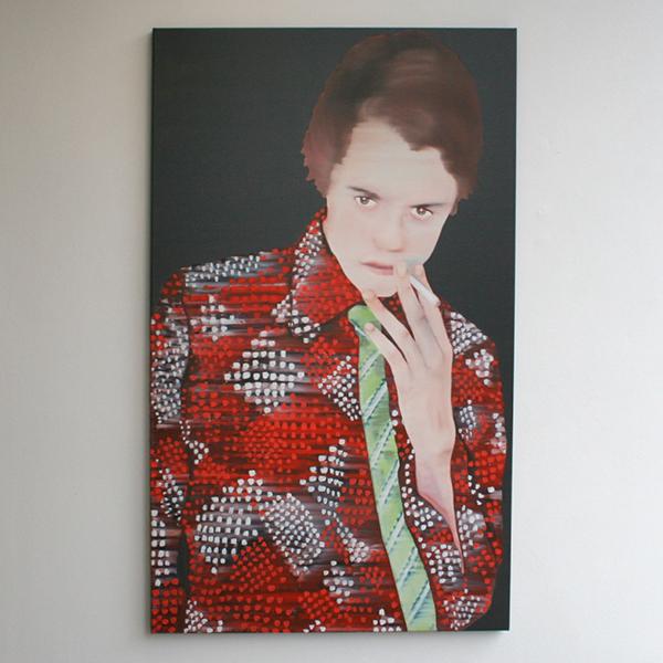 Katinka Lampe - Untitled (131823) - 130x80cm Olieverf op canvas