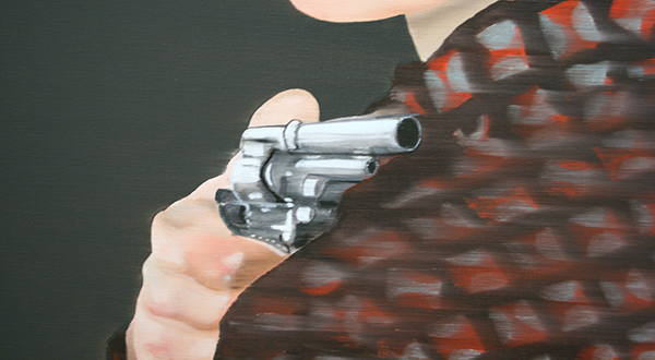 Katinka Lampe - Untitled (131824) - 130x80cm Olieverf op canvas (detail)