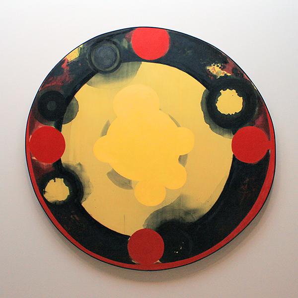 Kees de Goede - Binnenwereld, Buitendwereld #2 - Potlood, olieverf, tempera en Chinese Inkt op zijde 1988