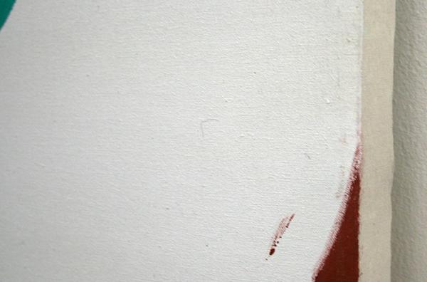 Kim van Norren - Let's All get even - 146x146cm Acrylverf op doek (tekst Leonard Cohen) (detail)