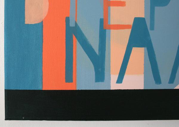 Kim van Norren - Noem Me Bij Mijn Diepste Naam - 45x45cm Acrylverf op doek (tekst BLaudzun zingt Neeltje Maria Min) (detail)