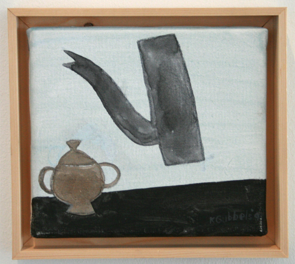 Klaas Gubbels - Zonder Titel - 18x20cm Olieverf op canvas
