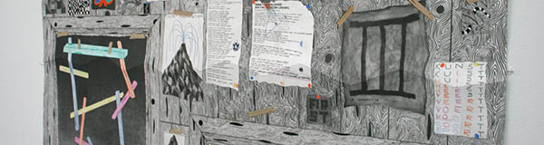 Koen Taselaar - Multititled 4 (Another Magnum Opus) - 195x136cm Mixed media op papier (detail)_3