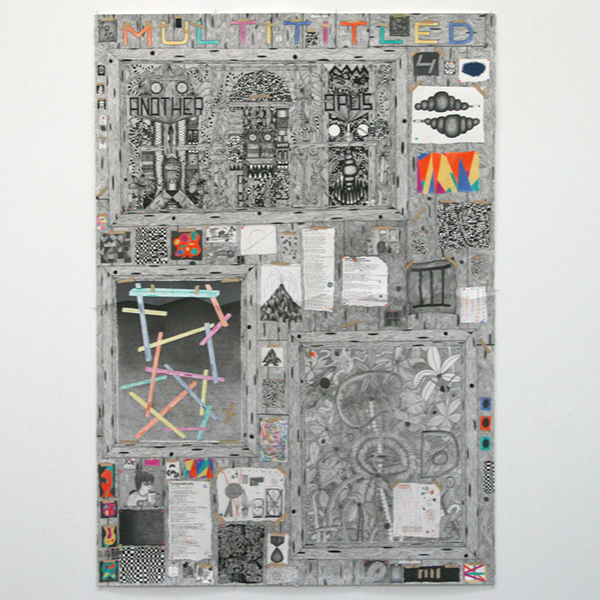Koen Taselaar - Multititled 4 (Another Magnum Opus) - 195x136cm Mixed media op papier