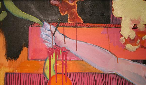 Larissa van Zanen - A Night on the Bare Mountain - 200x150cm Olieverf op canvas (detail)