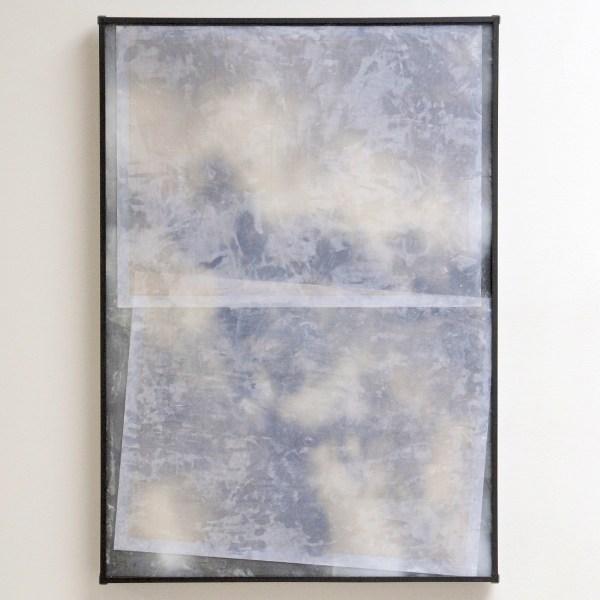 Lennart Lahuis - Clouds - 100x70cm Inkjet print op hout en bijenwas op papier
