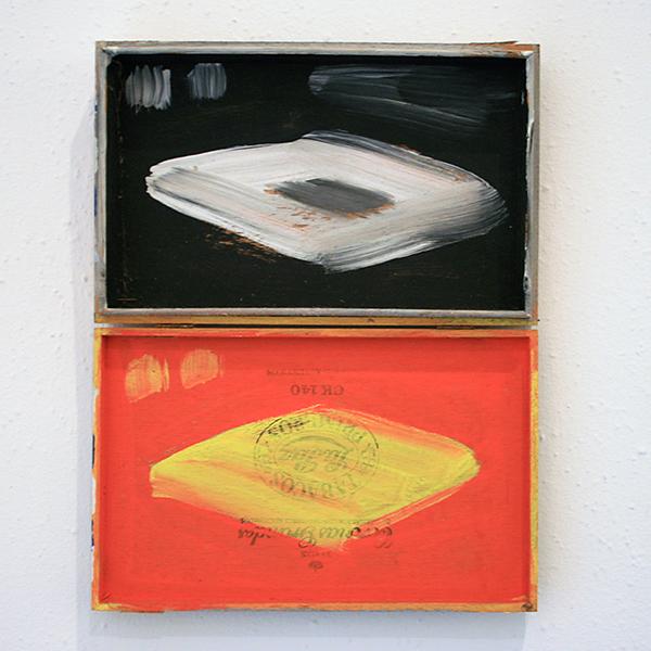 Leon Adriaans - Zonder Titel - 32x25x4cm Acrylverf op hout