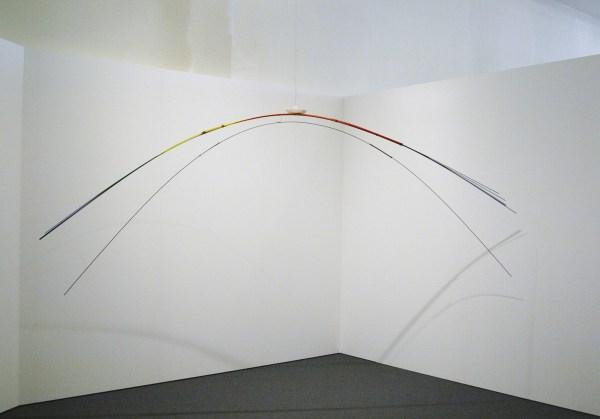 Luciano Fabro - Il Viaggio - Metalen staven, verf en papier, 1981