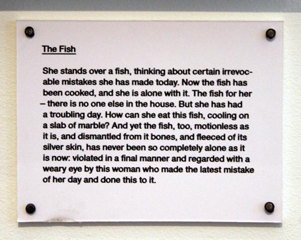 Lydia Davis - The Fish - Verscheen voor het eerst in '43 Poets (1984)' 1986