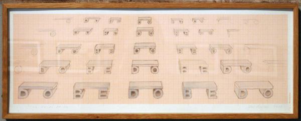 Marc Ruygrok - Do Be Do Be Do - 21x57cm Potlood op papier