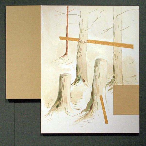 Mari Stoel - Composition #X - 130x135cm Olieverf op linnen