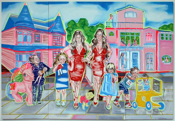 Marie Civikov - Plastic - Acrylverf en olieverf op canvas