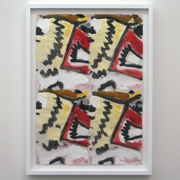 Marijn van Kreij - Untitled (Tags- Picasso, Nude Man and Woman, 1971) - 42x30cm Gouache op papier