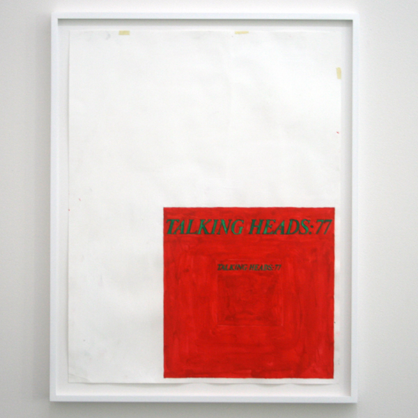 Marijn van Kreij - Untitled (Talking Heads '77, LP:CD) - 65x50cm Goache en potlood op papier