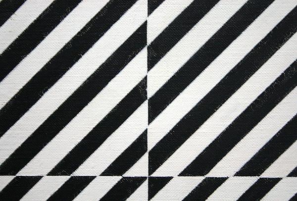 Mario Ballocco - Alternanza Di Contrasto - Olieverf op doek (detail)