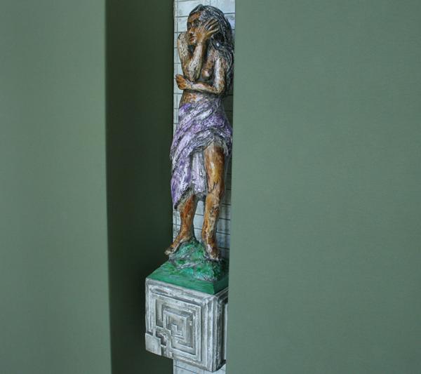 Markus Selg - Begegnung mit einem trunkenen Gott - Installatie, mixed media