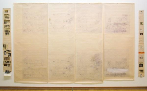 Marlene Dumas - Love versus Death - Blauwdruk en collage op papier, 1980