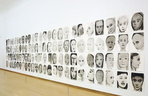 Marlene Dumas - Models - Gewassen inkt, aquarel en krijt op papier, 1994