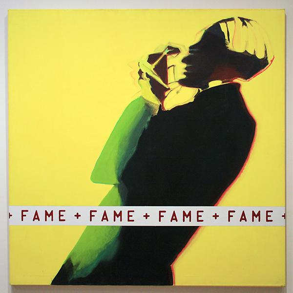 Marlene Dumas & Ton van Summeren - Fame Andy Warhol - Acrylverf op doek 1980