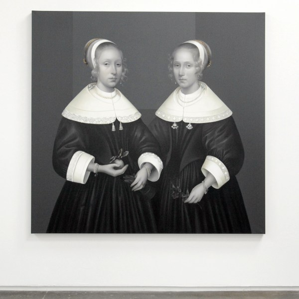 Mary A Waters - Dutch Sisters (The Younger One Married, Badly) - 190x200cm Olieverf op linnen