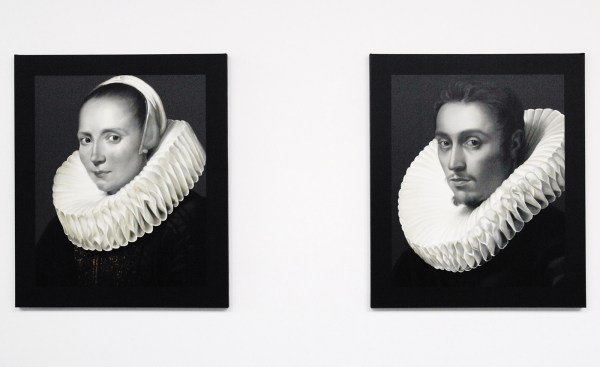 Mary A Waters - Flemish Woman (You Do Know That This Will Stop Someday) & Flemish Man (I Really Love That Woman) - 160x135cm Olieverf op linnen