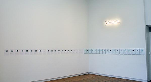 Matthieu Laurette - Things (Purchased With Funds Provided By) - Installatie met contracten en neon 2010-2020
