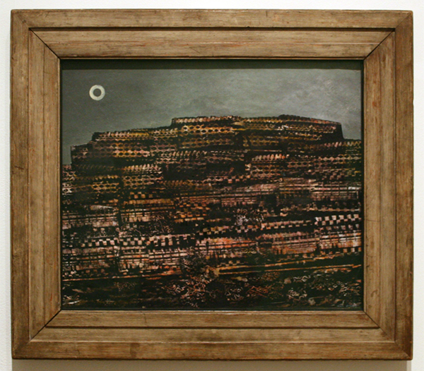 Max Ernst - The Entire City - Olieverf op papier op canvas