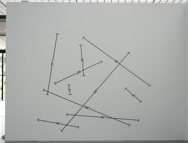 Mel Bochner - Measurement 1-10 feet