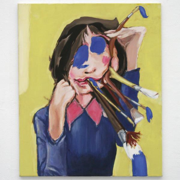 Micha Patiniott - Brushface - 97x80cm Olieverf op doek