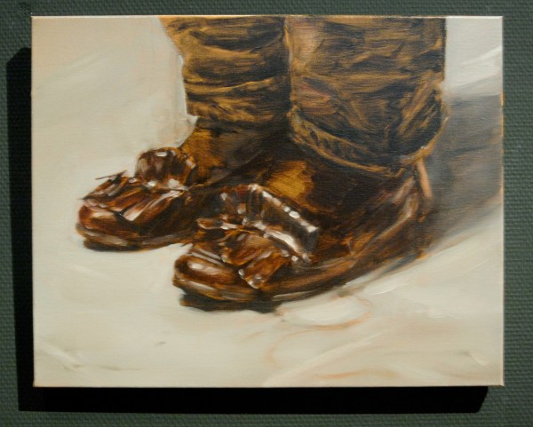 Michael Borremans - The Invader - 42x53cm Olieverf op doek