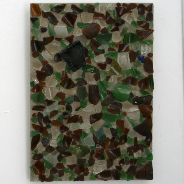 Michael James Jones - Glass Island - 30x45cm Glas op linnen