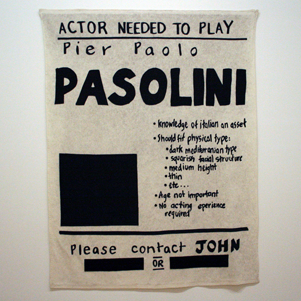 Mike Kelly - Untitled (Pasolini) - Gelijmde vilten banier